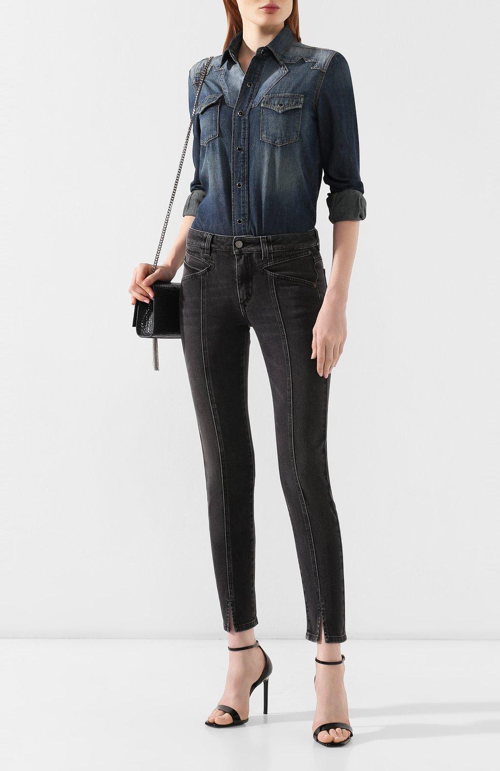 Женские джинсы GIVENCHY черного цвета, арт. BW50EB50AE | Фото 2