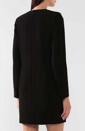 Платье с пайетками Givenchy черное | Фото №4