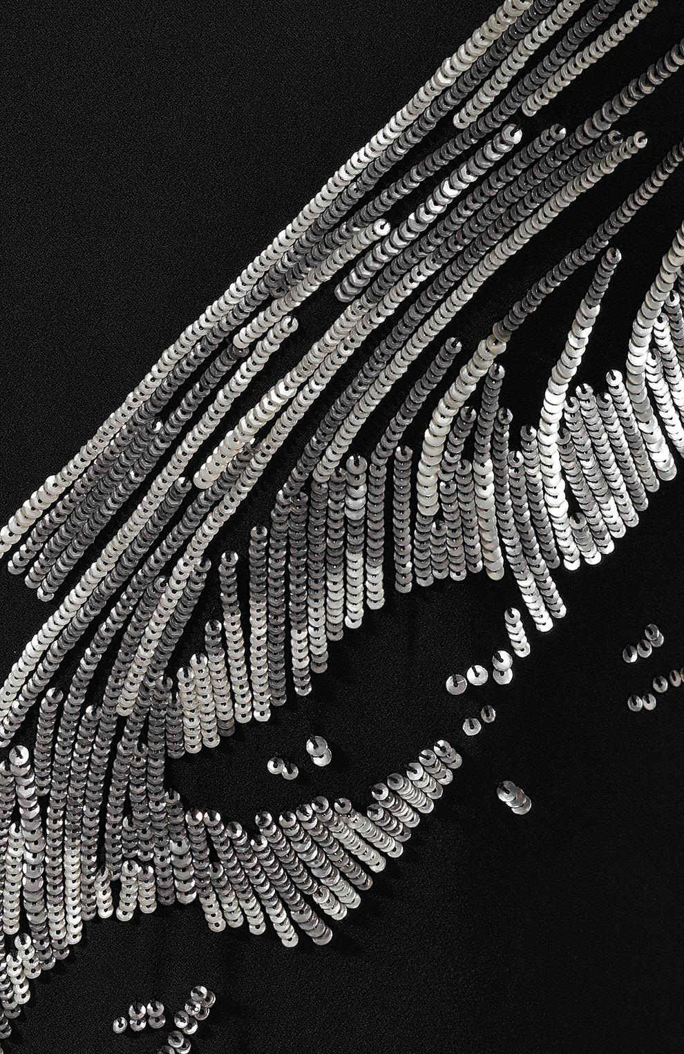 Платье с пайетками Givenchy черное | Фото №5