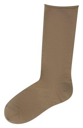 Женские кашемировые носки BRUNELLO CUCINELLI коричневого цвета, арт. M64945019P | Фото 1 (Материал внешний: Шерсть, Кашемир; Статус проверки: Проверена категория)
