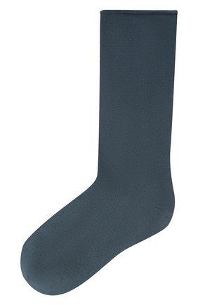 Женские кашемировые носки BRUNELLO CUCINELLI синего цвета, арт. M64945019P | Фото 1 (Материал внешний: Шерсть, Кашемир; Статус проверки: Проверена категория)