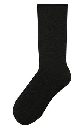 Женские кашемировые носки BRUNELLO CUCINELLI темно-серого цвета, арт. M64945019P | Фото 1 (Материал внешний: Шерсть, Кашемир; Статус проверки: Проверена категория)
