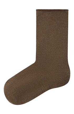 Женские носки из смеси кашемира и шелка BRUNELLO CUCINELLI хаки цвета, арт. M41945019P | Фото 1