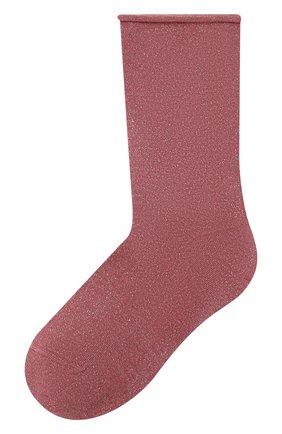 Женские носки из смеси кашемира и шелка BRUNELLO CUCINELLI розового цвета, арт. M41945019P | Фото 1