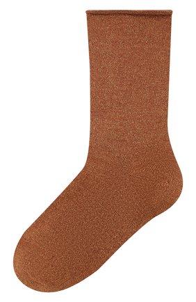 Женские носки из смеси кашемира и шелка BRUNELLO CUCINELLI оранжевого цвета, арт. M41945019P | Фото 1