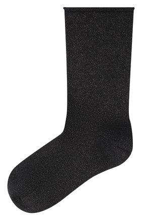 Женские носки из смеси кашемира и шелка BRUNELLO CUCINELLI темно-синего цвета, арт. M41945019P | Фото 1