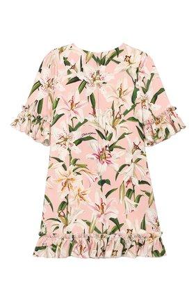 Детское платье из вискозы DOLCE & GABBANA светло-розового цвета, арт. L51DR4/FSRLP/2-6 | Фото 2