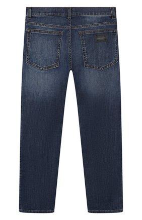 Детские джинсы DOLCE & GABBANA темно-синего цвета, арт. L42F01/LD737/8-14 | Фото 2