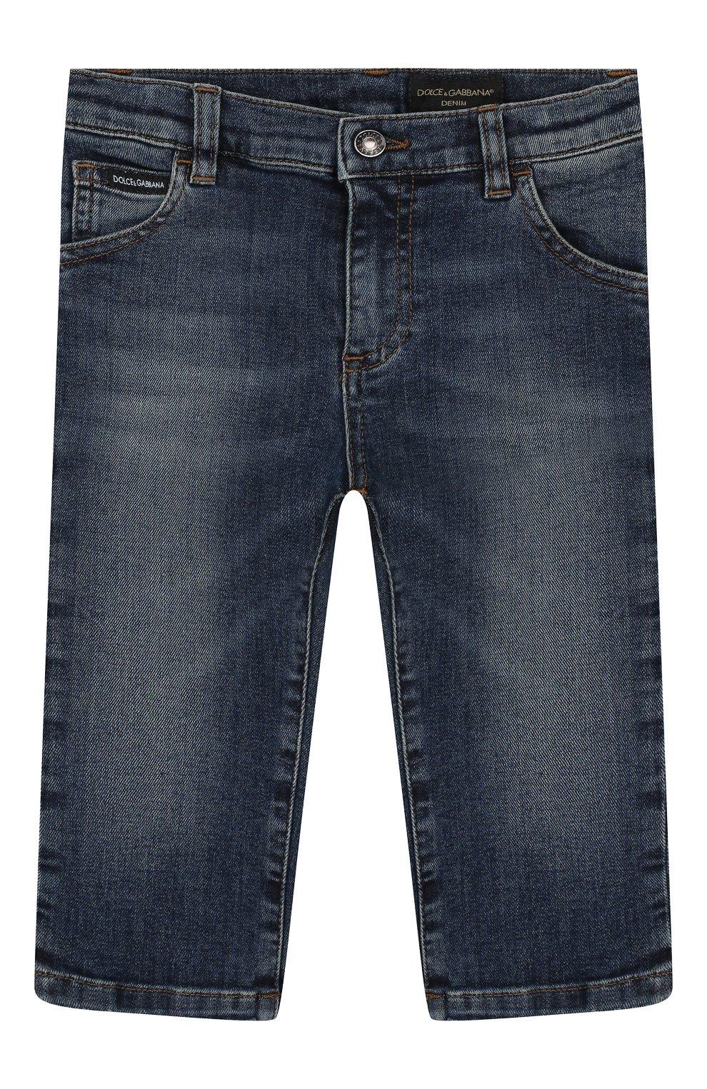 Детские джинсы DOLCE & GABBANA синего цвета, арт. L11F98/LD725   Фото 1