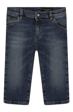 Детские джинсы DOLCE & GABBANA синего цвета, арт. L11F98/LD725 | Фото 1