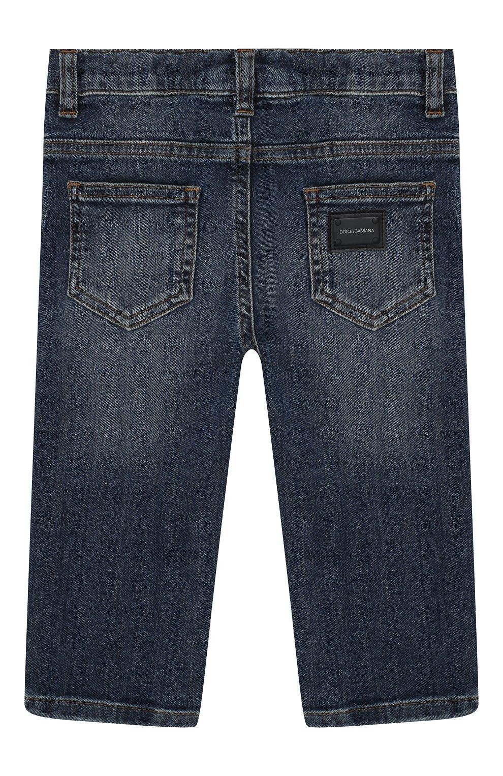 Детские джинсы DOLCE & GABBANA синего цвета, арт. L11F98/LD725   Фото 2
