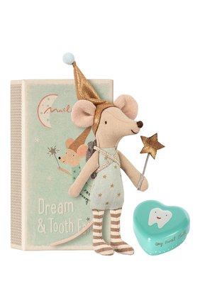 Детского игрушка мышка зубная фея со шкатулкой MAILEG голубого цвета, арт. 16-8731-01   Фото 2