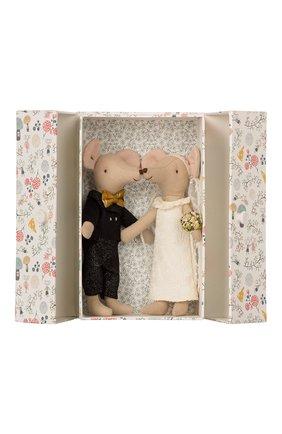 Детского игрушка мыши жених и невеста MAILEG черно-белого цвета, арт. 16-8740-01 | Фото 2
