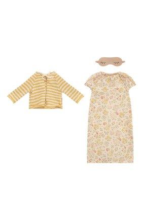 Детского одежда для игрушки зайка MAILEG желтого цвета, арт. 16-8940-01   Фото 1