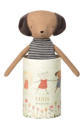 Детского игрушка щенок MAILEG коричневого цвета, арт. 16-8947-00 | Фото 2