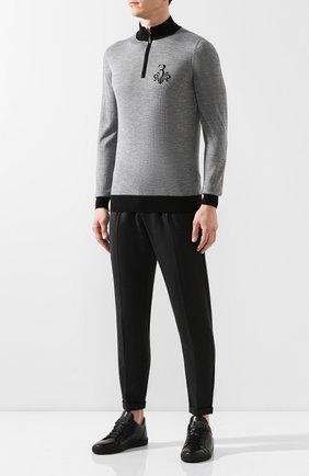 Мужской джемпер из смеси шерсти и шелка BILLIONAIRE серого цвета, арт. MKO0617 | Фото 2