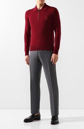 Мужское шерстяное поло BILLIONAIRE бордового цвета, арт. MKO0611 | Фото 2