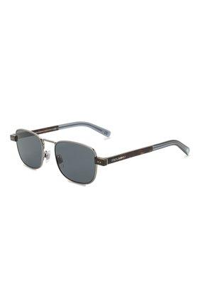 Мужские солнцезащитные очки DOLCE & GABBANA синего цвета, арт. 2222-04/80 | Фото 1