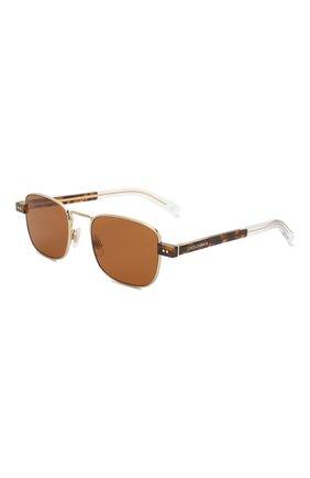 Мужские солнцезащитные очки DOLCE & GABBANA коричневого цвета, арт. 2222-488/73 | Фото 1