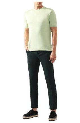 Мужской хлопковый джемпер KITON светло-зеленого цвета, арт. UK441 | Фото 2