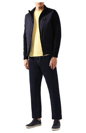Мужской хлопковый джемпер KITON желтого цвета, арт. UK441 | Фото 2