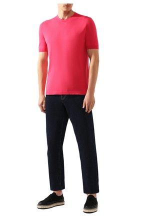Мужской хлопковый джемпер KITON розового цвета, арт. UK441   Фото 2