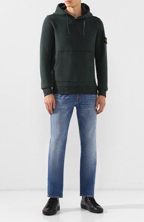 Мужские кожаные кеды SANTONI черного цвета, арт. MBCN20842NEARAYDN01 | Фото 2
