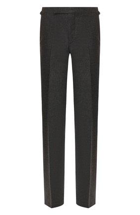 Мужской шерстяные брюки TOM FORD серого цвета, арт. 631R11/610043 | Фото 1