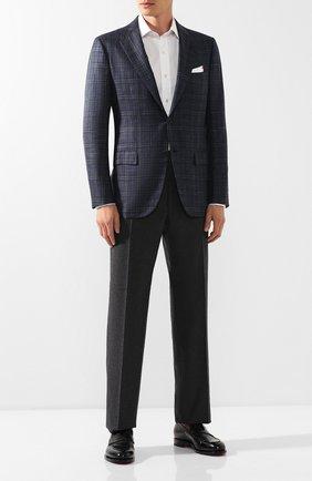 Мужской шерстяные брюки TOM FORD серого цвета, арт. 631R11/610043 | Фото 2