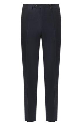 Мужской шерстяные брюки BRIONI темно-синего цвета, арт. RPN20L/06AAF/GSTAAD | Фото 1