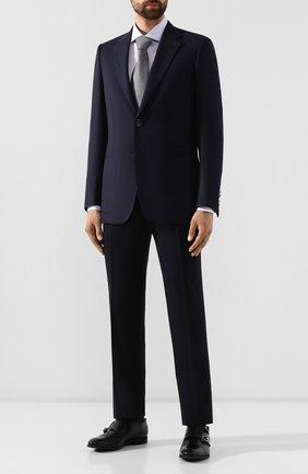 Мужской шерстяные брюки BRIONI темно-синего цвета, арт. RPN20L/06AAF/GSTAAD | Фото 2
