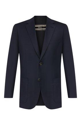 Мужской шерстяной пиджак BRIONI темно-синего цвета, арт. RGH00U/08A5P/PARLAMENT0 | Фото 1