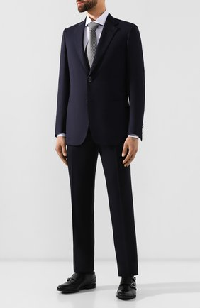 Мужской шерстяной пиджак BRIONI темно-синего цвета, арт. RGH00U/08A5P/PARLAMENT0 | Фото 2