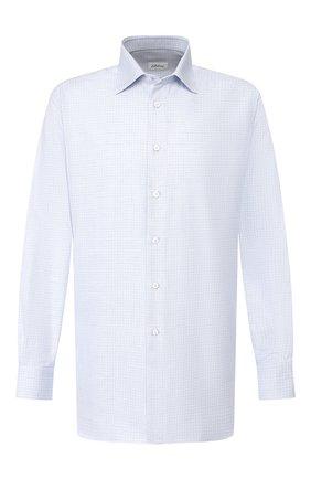 Мужская хлопковая сорочка BRIONI голубого цвета, арт. RCLU1S/0806L | Фото 1
