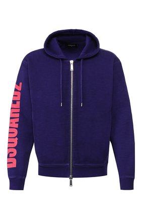 Мужская хлопковая толстовка DSQUARED2 фиолетового цвета, арт. S74HG0069/S25030 | Фото 1