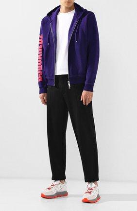 Мужская хлопковая толстовка DSQUARED2 фиолетового цвета, арт. S74HG0069/S25030 | Фото 2