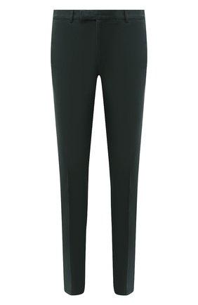 Мужские хлопковые брюки RALPH LAUREN темно-зеленого цвета, арт. 790637204   Фото 1 (Длина (брюки, джинсы): Стандартные; Материал внешний: Хлопок; Статус проверки: Проверено; Случай: Повседневный; Стили: Кэжуэл)
