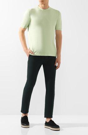 Мужские хлопковые брюки RALPH LAUREN темно-зеленого цвета, арт. 790637204   Фото 2 (Длина (брюки, джинсы): Стандартные; Материал внешний: Хлопок; Статус проверки: Проверено; Случай: Повседневный; Стили: Кэжуэл)