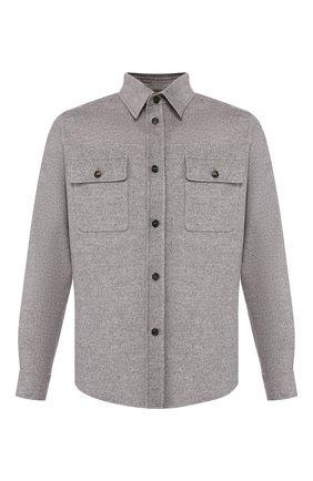 Мужская куртка из смеси шерсти и кашемира BRIONI серого цвета, арт. SGMM0L/07369 | Фото 1