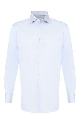 Мужская хлопковая сорочка BRIONI светло-голубого цвета, арт. RCLU0W/0807C | Фото 1