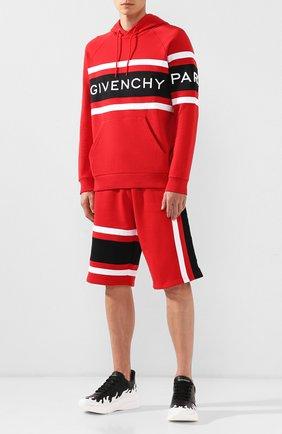 Хлопковое худи Givenchy красный | Фото №2
