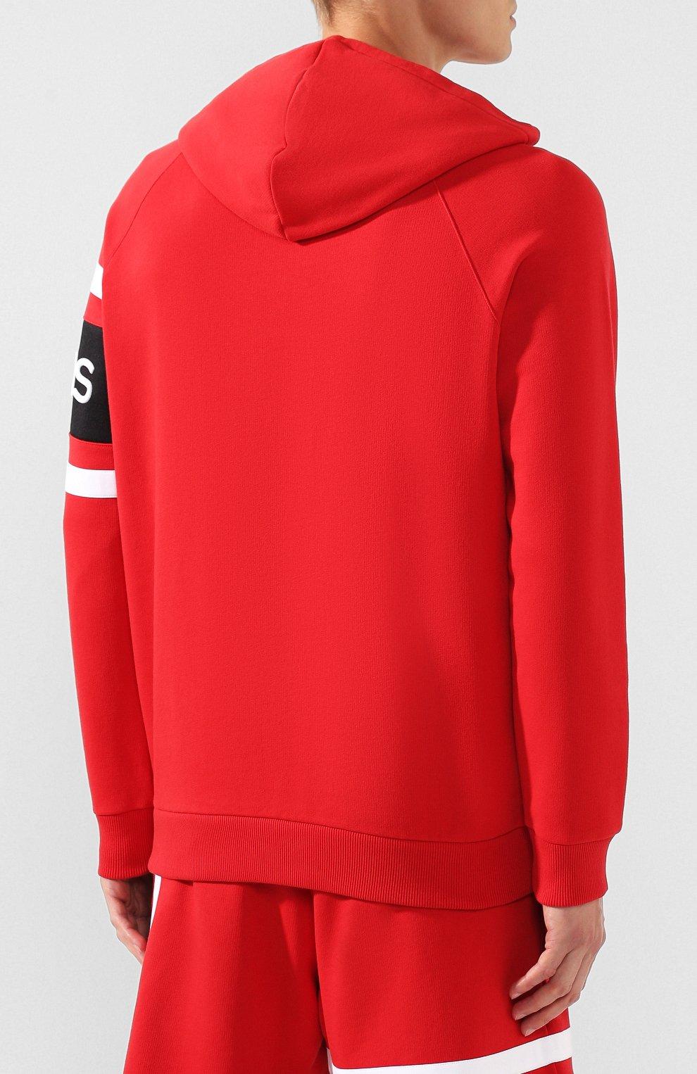 Хлопковое худи Givenchy красный | Фото №4