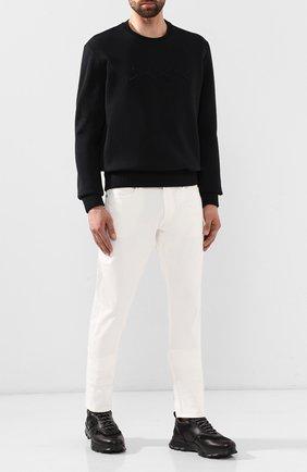 Мужские кожаные кроссовки ZEGNA COUTURE черного цвета, арт. A4255X-LHXFA | Фото 2
