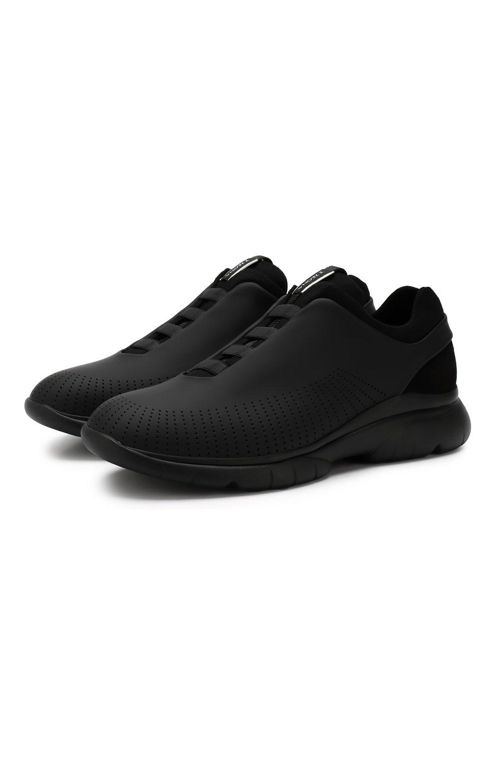 Мужские кроссовки Z ZEGNA черного цвета, арт. A4026X-LHGST | Фото 1