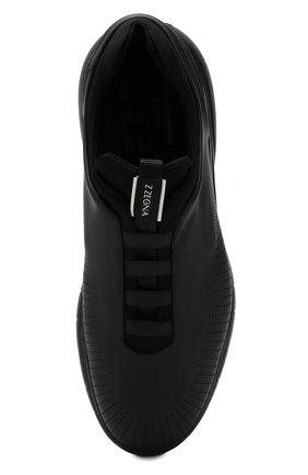 Мужские кроссовки Z ZEGNA черного цвета, арт. A4026X-LHGST | Фото 5