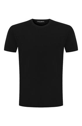 Мужская хлопковая футболка DOLCE & GABBANA черного цвета, арт. G8JX7T/FU7EQ | Фото 1