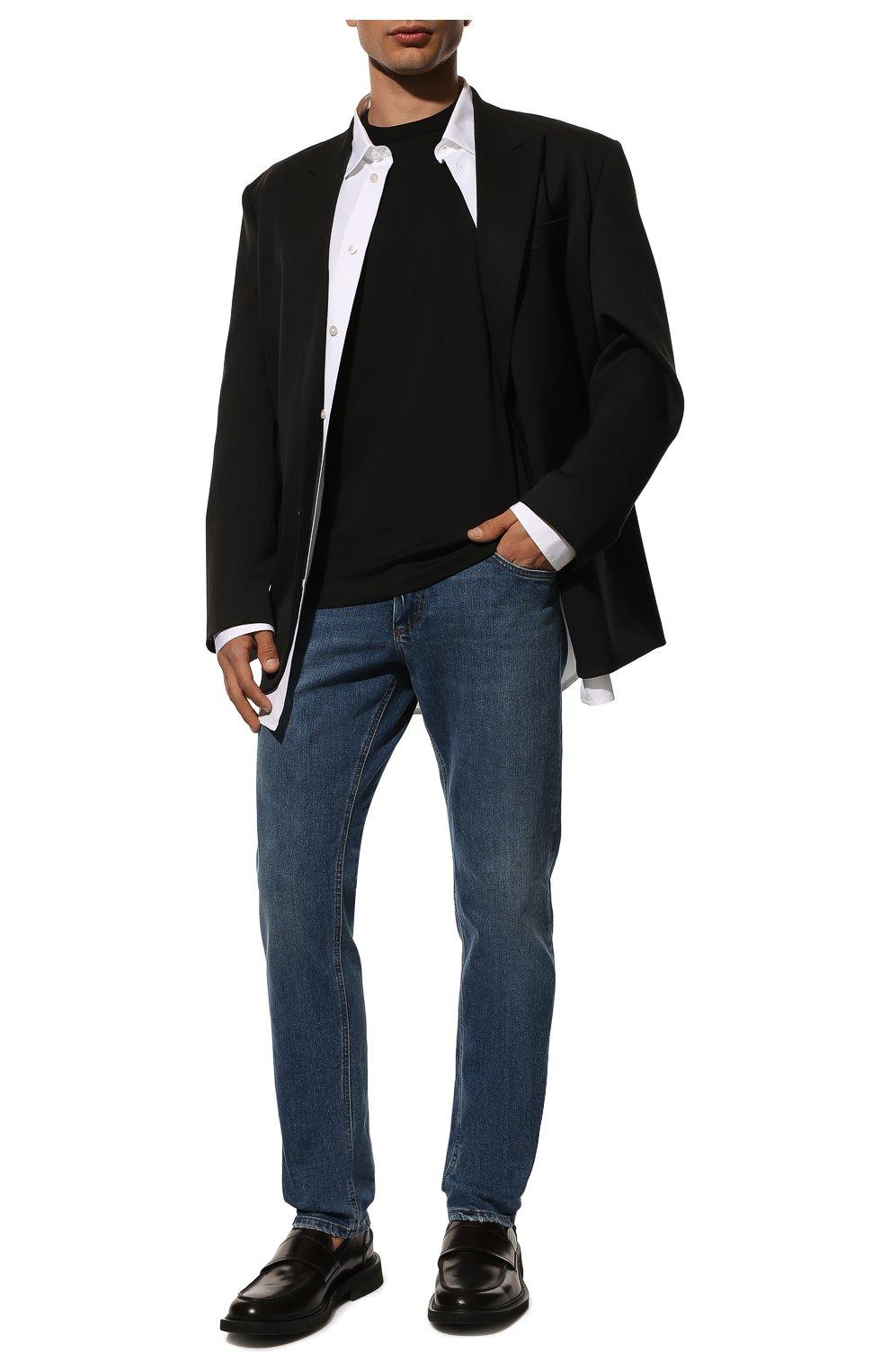 Мужская хлопковая футболка DOLCE & GABBANA черного цвета, арт. G8JX7T/FU7EQ | Фото 2