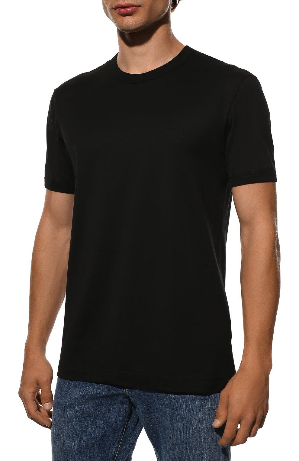 Мужская хлопковая футболка DOLCE & GABBANA черного цвета, арт. G8JX7T/FU7EQ | Фото 3
