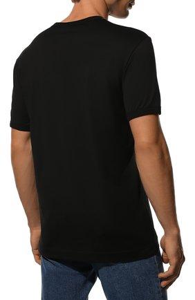 Мужская хлопковая футболка DOLCE & GABBANA черного цвета, арт. G8JX7T/FU7EQ | Фото 4