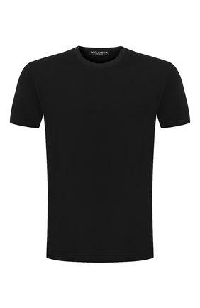 Мужская хлопковая футболка DOLCE & GABBANA темно-синего цвета, арт. G8JX7T/FU7EQ | Фото 1